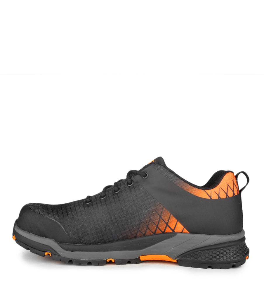 Trainer, Black | PU coated nylon work shoes | Metal free & light