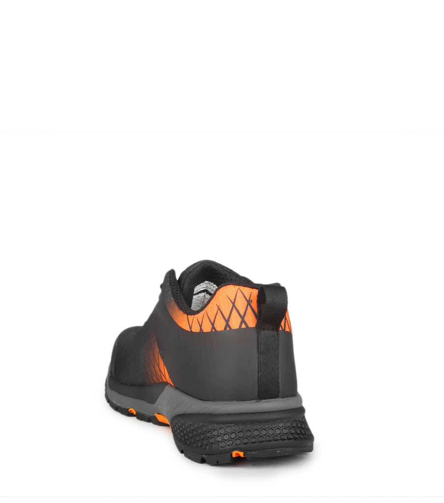 Trainer, Black/Orange | PU coated nylon work shoes | Metal free