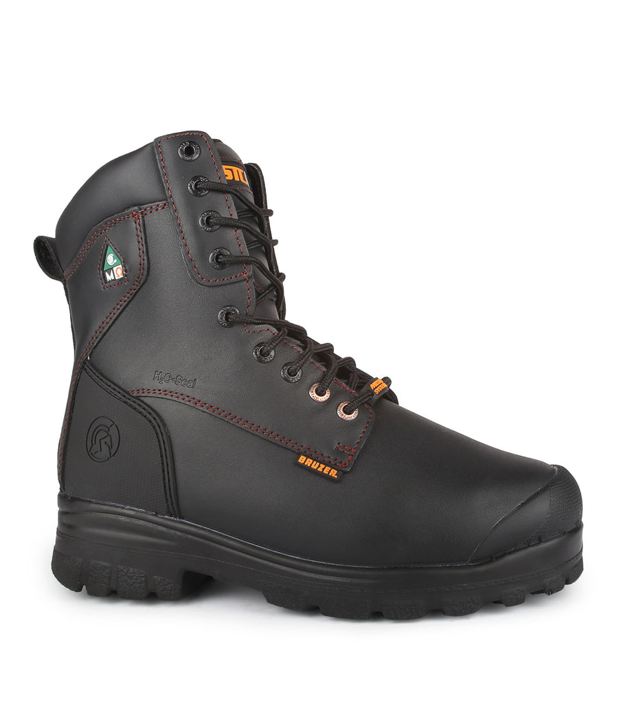 "Master Met, Black | 8"" Work Boots with internal metarsal protection"