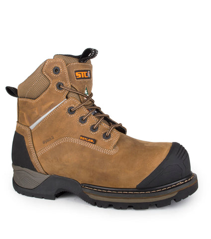 "Golden, Orange | 15"" PU Insulated mining boots 