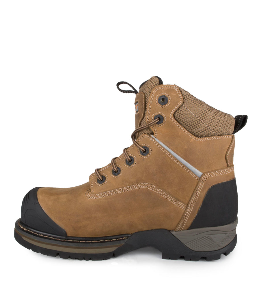 "Outlaw,Brown| Waterproof Nubuck Leather 6"" Work Boots 