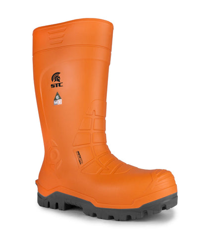 Geo, Black & Orange | Safety Rubber Work Boots  | ASTM CSA ESR M