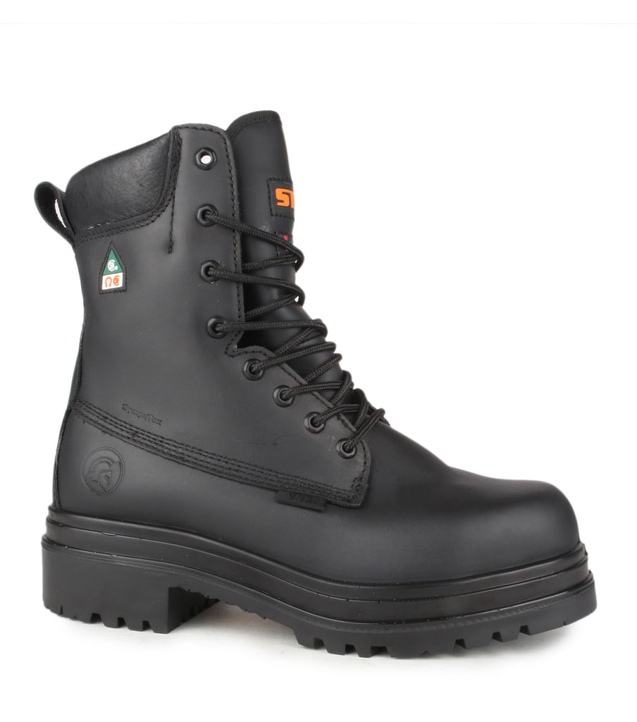 "Alertz, Black | 8"" Work Boots including Zip Kit"