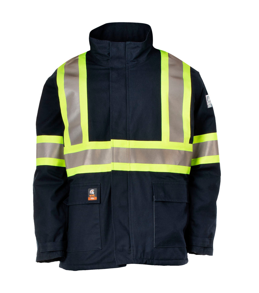 Warm, Navy | Electric Arc Resistance Hight-visibility Parka