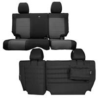 BARTACT Rear Split Bench Seat Cover 2008-2010 Black/Graphite JKU