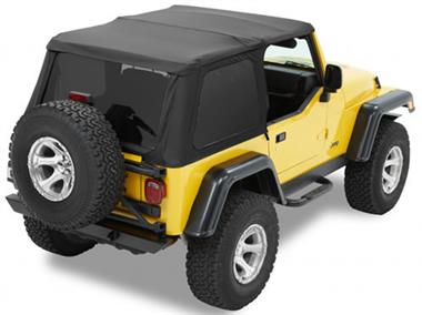 Bestop Frameless Trektop NX with Tinted Windows for TJ