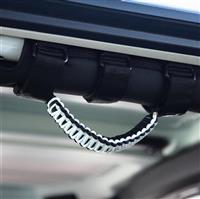 BARTACT Black/White Paracord Grab Handle - Roll Bar