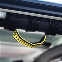 BARTACT Black/Yellow Paracord Grab Handle - Roll Bar