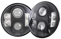 Pro Comp 7 Inch Round LED Headlamps (Clear)
