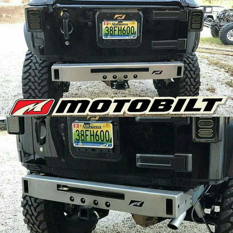 MOTOBILT JEEP JK MICRO REAR BUMPER WITH LIGHT BAR CUT OUT
