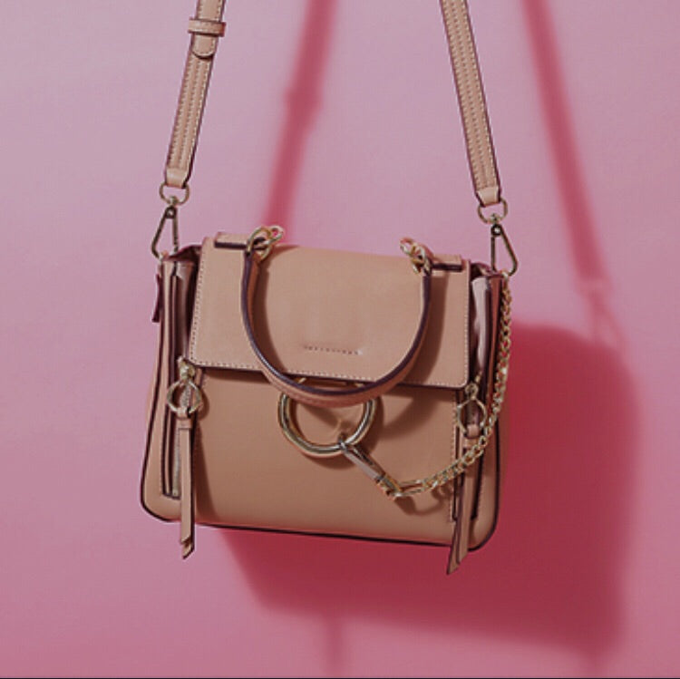 Rachelle Leather Tote in Nude