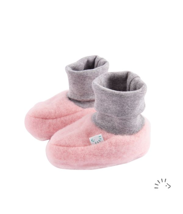 iobio - Wollvlies Baby-Schuhe Pull-On hellrosa