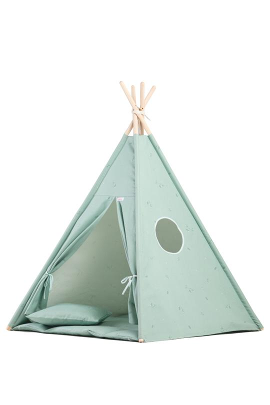 Wigiwama Tipi-Set Mint Flower