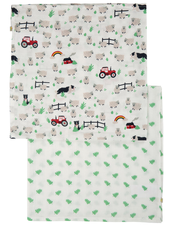 Frugi - Lovely 2 Pack Muslin Tractor