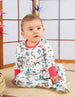 Frugi - Lovely Babygrow Watermelon Sika Deer Ditsy