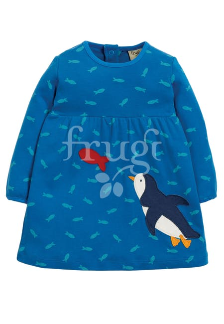 Frugi - Dolcie Dress Swimming Shoals/Penguin