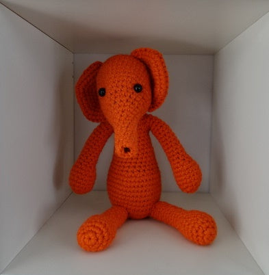 ViVi Häkeltier Elefant orange