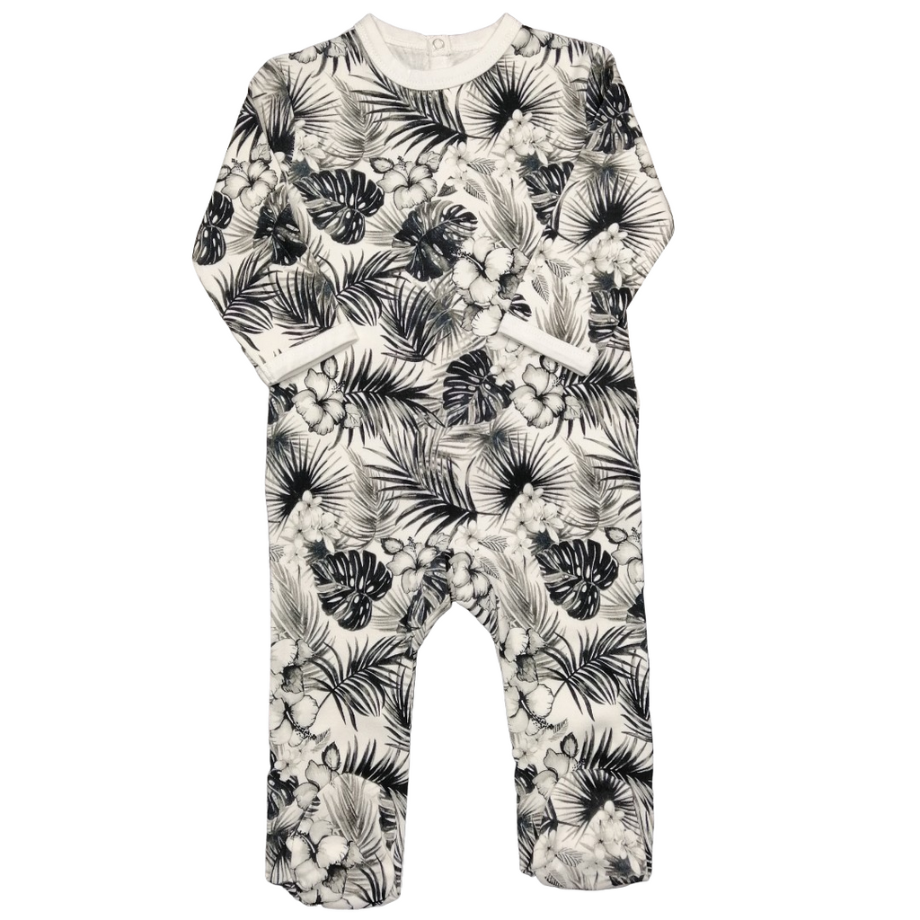 CmC - Sleepsuit Tropical Black and White