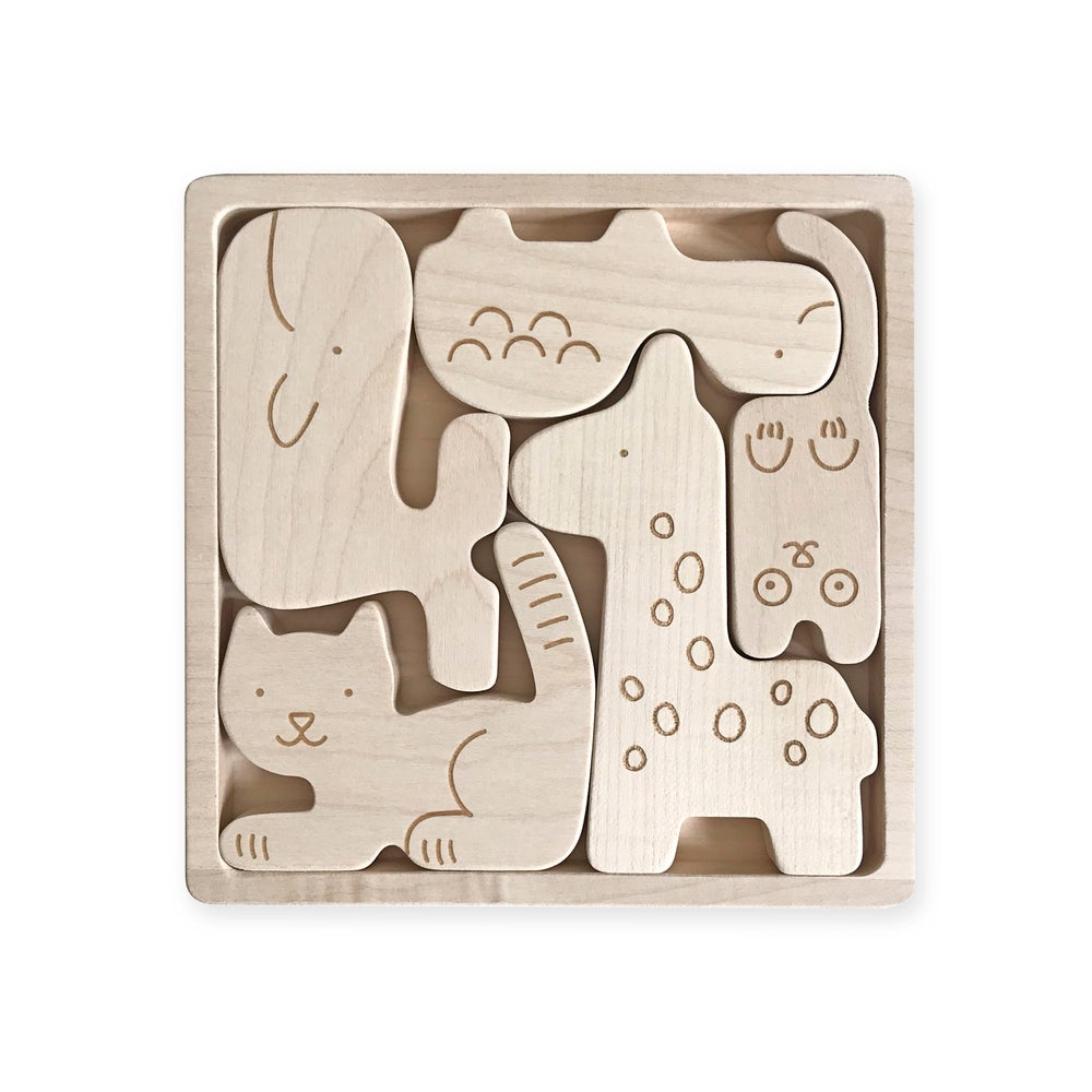 Briki Holz-Puzzle Tiere