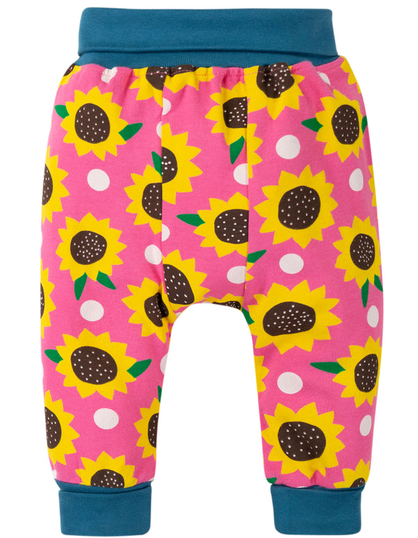 Frugi - Parsnip Pants Flamingo Sunflowers
