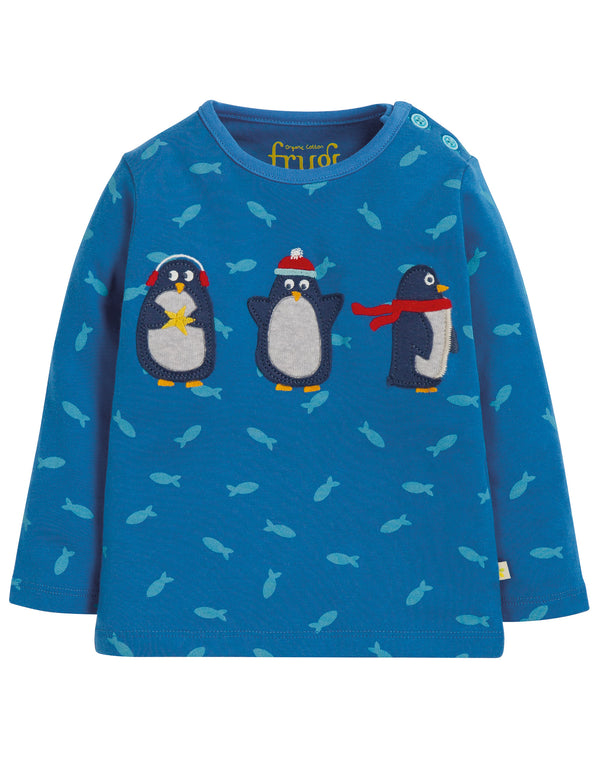 Frugi - Button Applique Top Swimming Shoals/Penguin