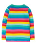 Frugi - Everything Long Sleeve Top Flamingo Multi Stripe
