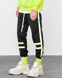 Green Neon Piped Joggers