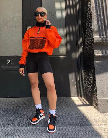 Orange Mesh Pocket Jacket