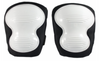 Non-Marring Knee Pads Black/White Cap