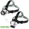 Headlamp LED, 4 Modes Headlight, Battery Powered Helmet Light for Harvesting, Running, Hiking and Reading, 3 AAA Batteries Included