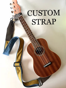 CUSTOM Instrument Strap with YOUR Tie or Clothing