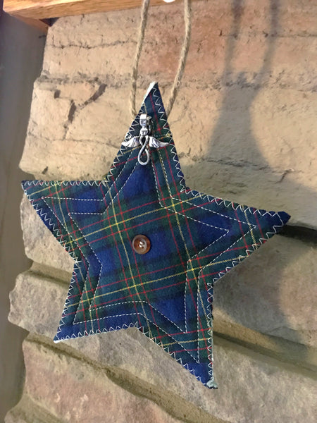 Custom Quilted Memory Star Ornament