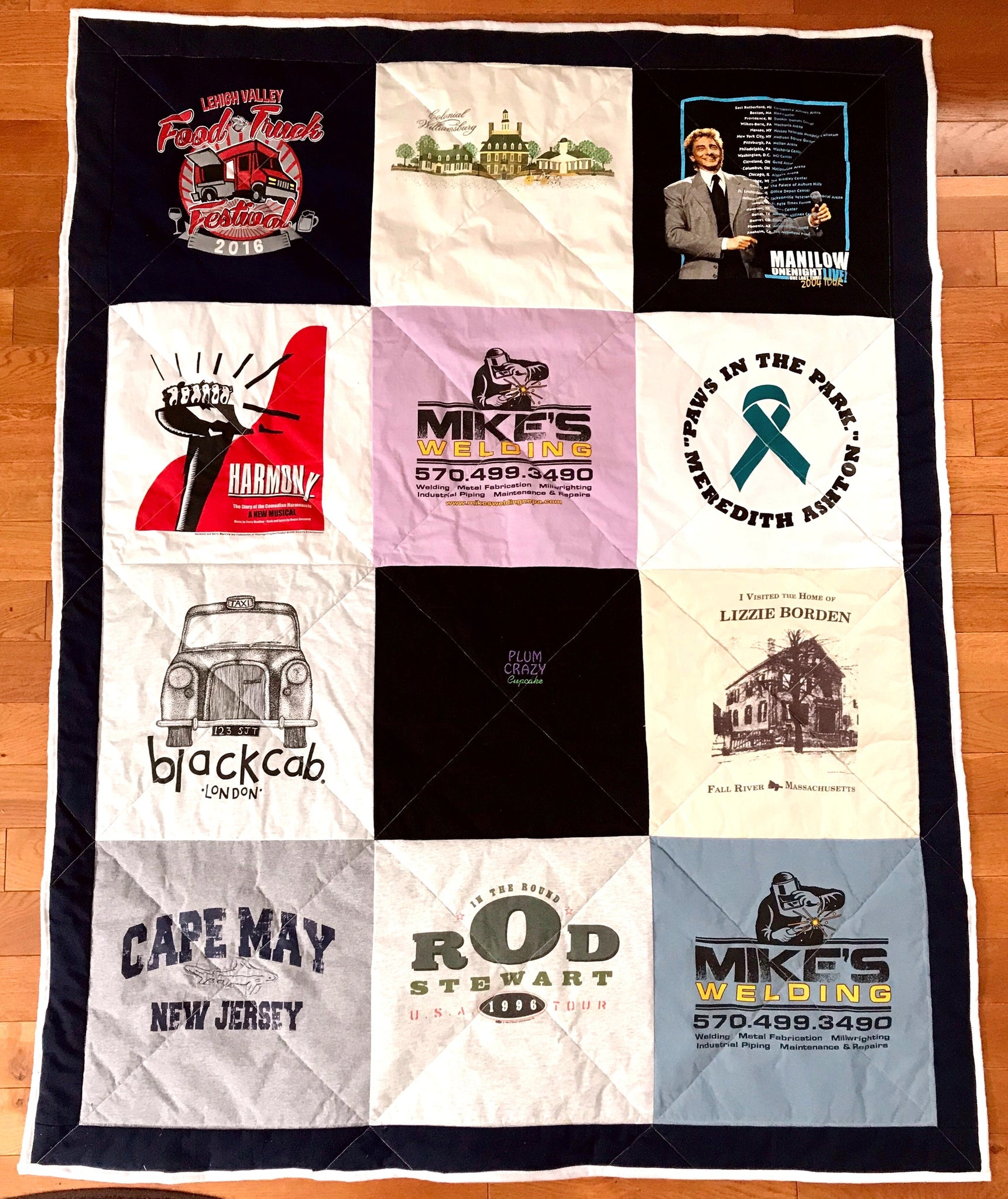 Custom T Shirt Quilt Custom Lap Small Or Large Lap Size The