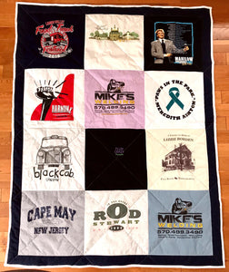 Custom T-shirt Quilt - Custom Lap  (small or large lap size)