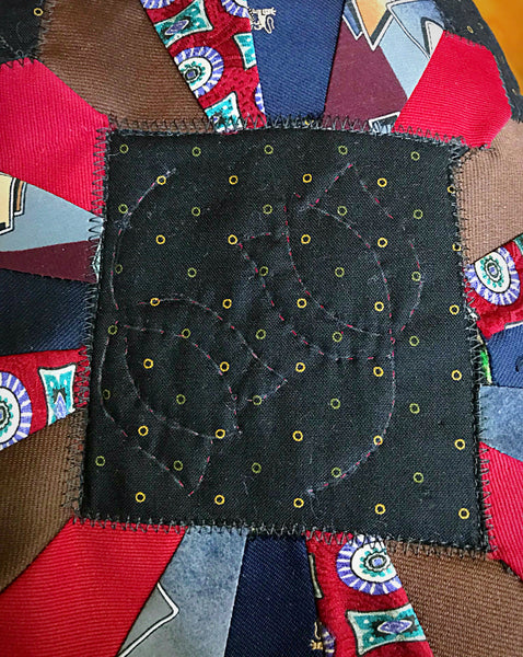 Memory Quilt Table Topper (ties)