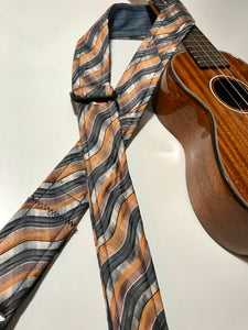 Adjustable Ukulele Strap (orange, black, white)