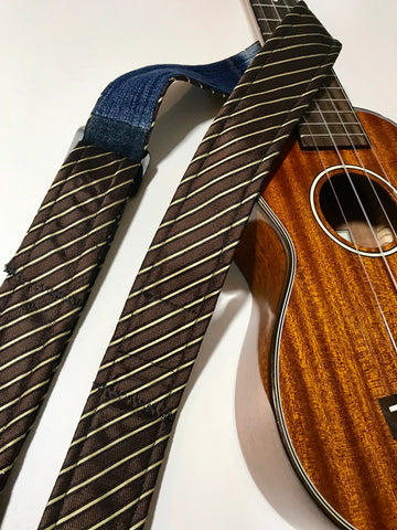 Adjustable Ukulele Strap (brown, tan)