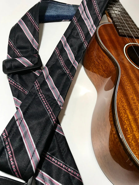 Adjustable Ukulele Strap (black, gray, white, pink)