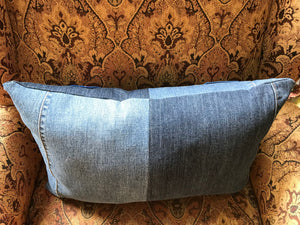 Custom Denim Memory Pillow (1-2 pieces of clothing, jeans or shirts, pieced)