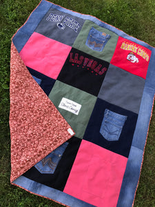 Custom Memory Quilt  (small or large lap size)