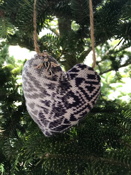 Custom Memory Keepsake Heart Pillow Ornament