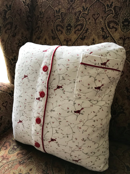 Memory Pillow - SMALL (1-2 pieces of clothing, solid front & back)