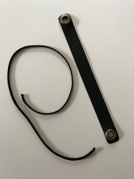 Faux leather strap for use on neck