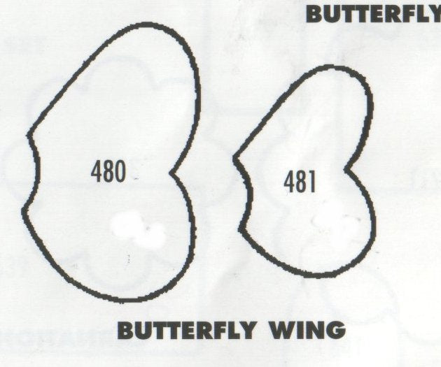 Butterfly Wing (plain) - set of 2 480/481 (35mm, 25mm) TinkerTech Two Cutters