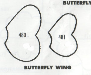 TinkerTech Two Cutters - Butterfly Wing (plain) - set of 2 480/481 (35mm, 25mm)
