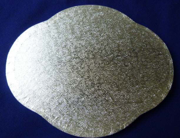 Drum Cake Board - Scalloped Oval