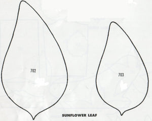 Sunflower Leaves - set of 2 702/703 (95mm, 75mm) - TinkerTech Two Cutters