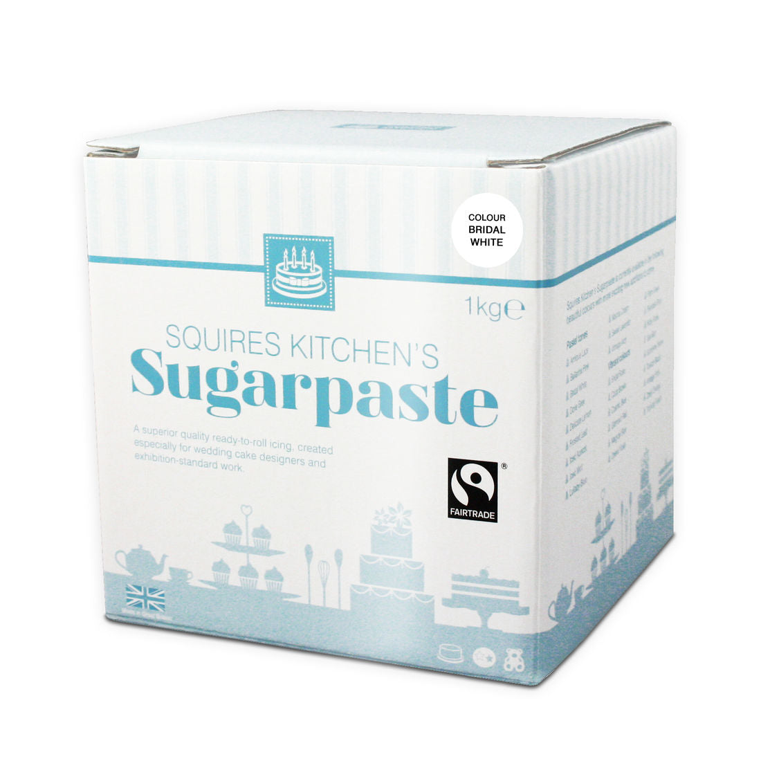 Sugarpaste (Fondant) - Squires Kitchen - Bridal White - 1Kilo