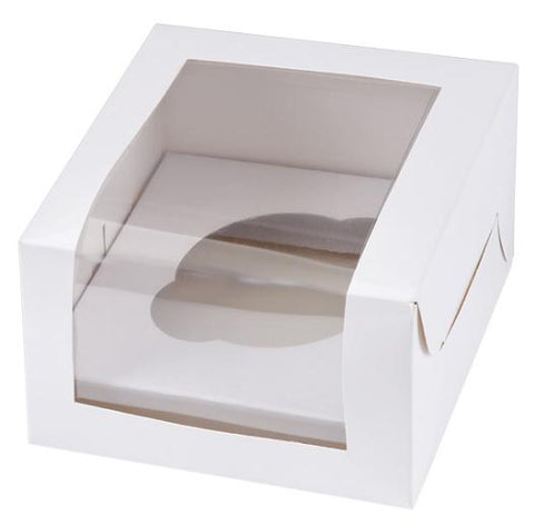 Muffin Box White - Holds 1 cupcake