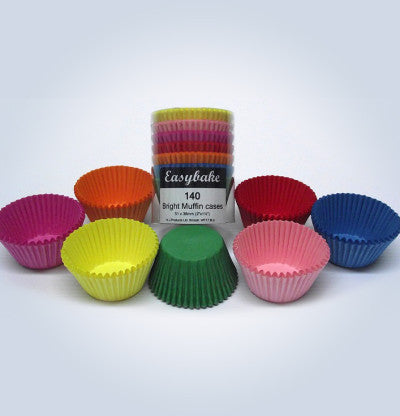 Muffin Cases - Brights  pack of 140